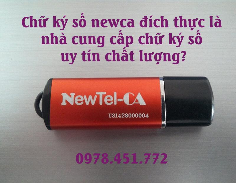 Dịch vụ chữ ký số Newtel Ca uy tín